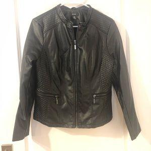 Alfani faux leather black jacket from Macy's.